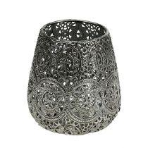 Candle jar Silver Ø12cm H13cm 1pc