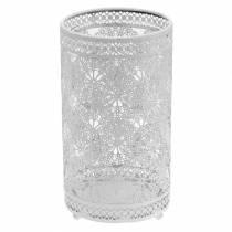 Lantern white Ø11cm H20cm