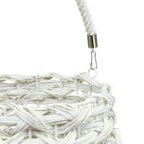 Lantern braided Ø20cm H50cm White