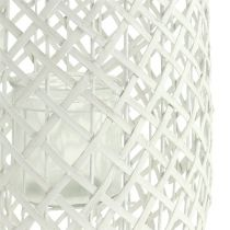 Lantern with handle Ø25cm H62cm white