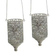 Hanging thread light antique metal Ø10cm H21cm 2pcs