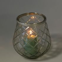 Windlight antique rhombus Ø13cm H14cm