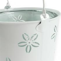 Wind light bucket white Ø17cm H17cm