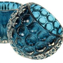 Glass Lanterns Dark Blue Ø8cm H6cm 2pcs