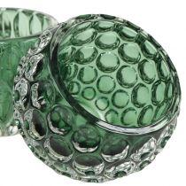 Windlight Glass Dark Green Ø8cm H6cm 2pcs