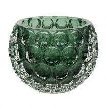 Windlight Glass Dark Green Ø11,5cm H9cm 1pc