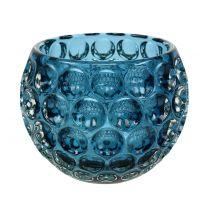 Glass Lantern Dark Blue Ø11,5cm H9cm 1pc