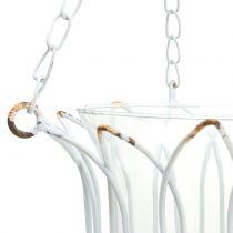 Hanging lantern white Ø14cm H45cm