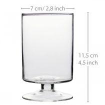 Wind light Hurricane glass Ø7cm H11,5cm 6pcs