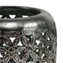 Windlight silver Ø11,5cm H9,5cm 1pc