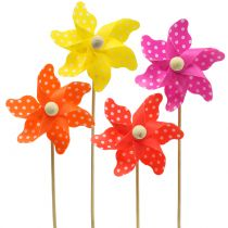 Windmill Mini assorted with dots Ø8cm 12pcs