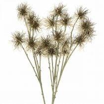 Xanthium artificial flower autumn decoration 6 flowers cream, brown 80cm 3pcs