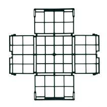 Brick grid 1/2 260mm x 260mm x 75mm flat 20pcs