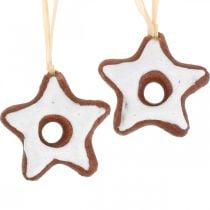 Christmas tree decorations cinnamon stars decoration star plastic 5cm 24pcs