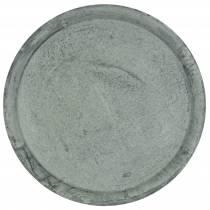 Decorative plate zinc tray Ø44cm H2,5cm