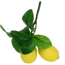 Lemon branch with 2 lemons 24cm