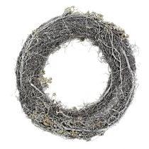 Branch wreath Ø40cm 1p. White