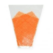 Flower bag jute pattern orange L40cm B12-30 50pcs