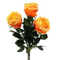 Deco Rose Orange Ø8cm L68cm 3pcs