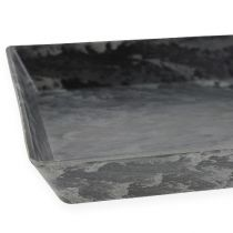 Decorative tray anthracite 27cm x 12cm