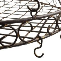 Decorative Tray for hanging Ø30cm brown L45cm