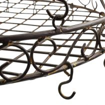 Tray with hook for hanging brown, rust Ø45cm