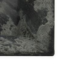 Plastic plate 20cm x 20cm square anthracite 6pcs
