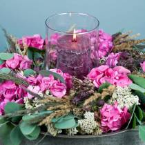 Solid colored candles burgundy different sizes