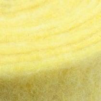 Felt ribbon light yellow 15cm 5m