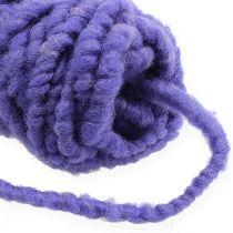 Felt cord Velcro Mirabell 25m Violet
