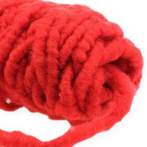 Felt cord Velcro Mirabell 25m red