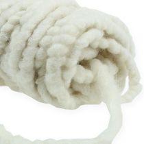 Felt cord Flausch Mirabell 25m white