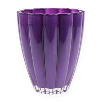 """Glass Vase """"Bloom"""" Violet Ø14cm H17cm"""
