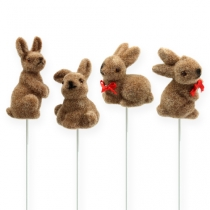 Easter bunnies on the wire, assorted, 5cm - 7cm 20pcs