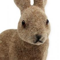 Decorative bunny 14cm flocked 4pcs.