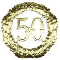 Anniversary number 50 in gold Ø40cm