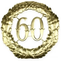 Anniversary number 60 in gold Ø40cm