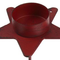 Tealight holder star to plug in red