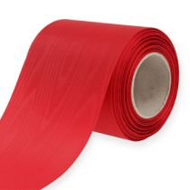 Wreath ribbon red 100mm 25m