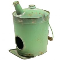 Birdhouse Oil Drum Antique Green Ø17cm H23cm