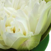 Artificial lotus flower cream 13cm 4pcs