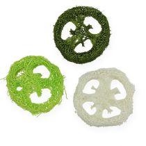 Loofah slices sort. Green, white 5-7.5cm 24pcs