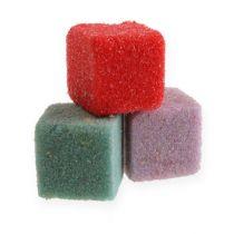 Wet floral foam mini-cubes colored colorful 300p
