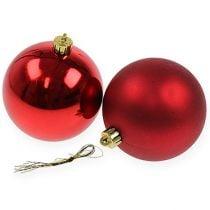 Christmas ball red 10cm 4pcs