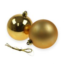 Christmas tree balls plastic 8cm 6pcs