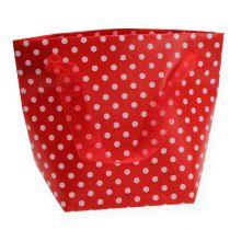 Gift bag red, white 31cm 5pcs