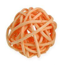 Rattanball orange, apricot, bleached 72pcs