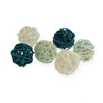 Rattan ball color mix Ø2cm - 2.5cm 72pcs