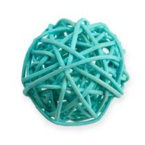 Rattan ball blue, turquoise, bleached 30pcs