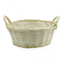 Round basket bowl peeled approx. Ø35cm